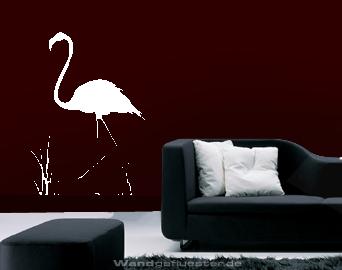 Wandtattoo wasservogel flamingo - Flamingo wandtattoo ...
