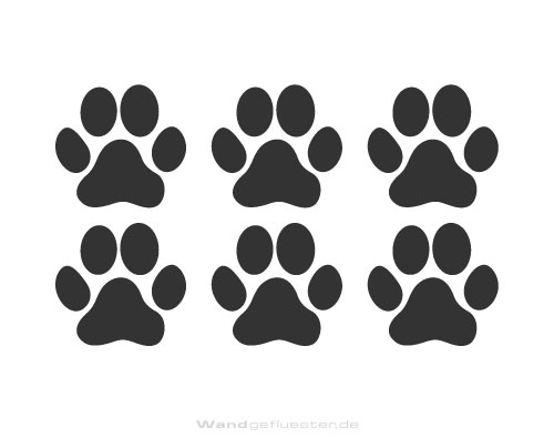 Wandtattoo Katzenpfoten : Katzenpfoten wandtattoo wandlauf