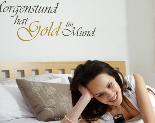 vinylsticker wandtattoo gold im mund. Black Bedroom Furniture Sets. Home Design Ideas