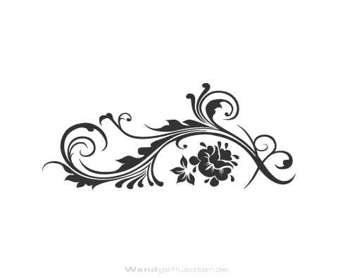 Wandtattoo aus wandfolie blumenranke for Wandfolie schwarz